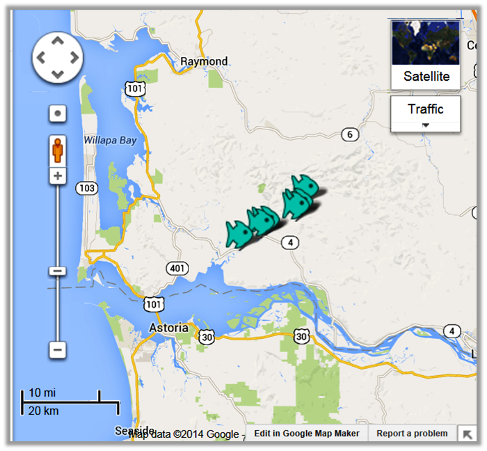 Grays River Fishing Access Maps Alerts
