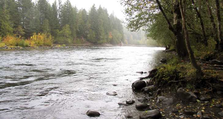 The Clackamas River in Oregon.